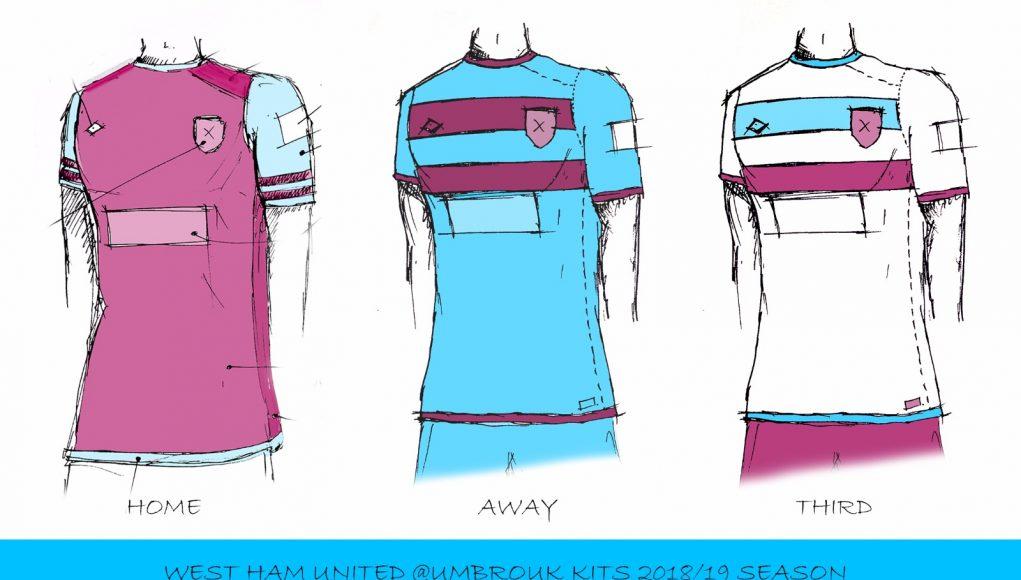 finest selection 2eeef 16deb West Ham's 18/19 Umbro Kits: Three amazing concepts West Ham ...