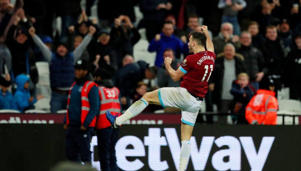 Robert Snodgrass celebrates scoring v Crystal Palace