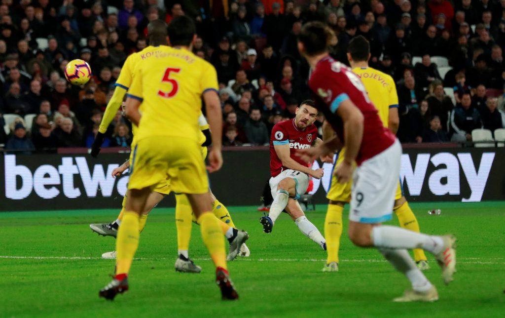 Robert Snodgrass scores v Crystal Palace