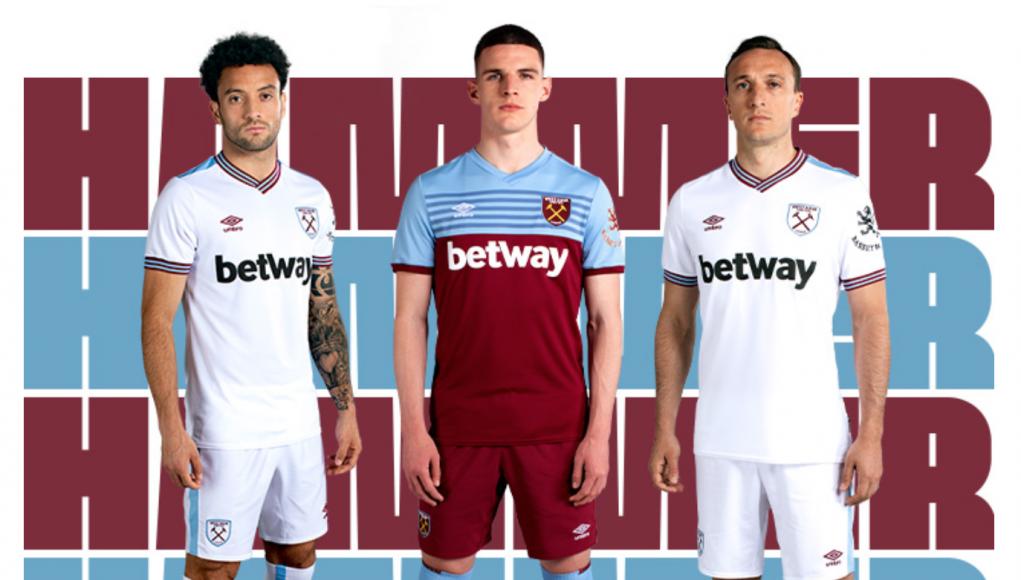 West Ham Umbro kits 19/20